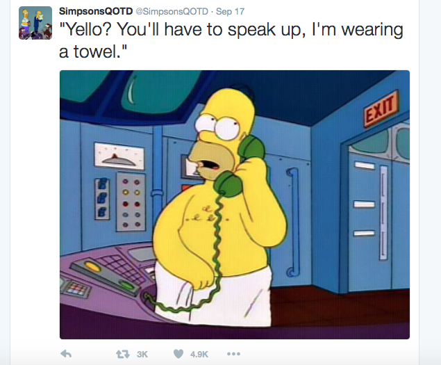 simpsons wearing a towel