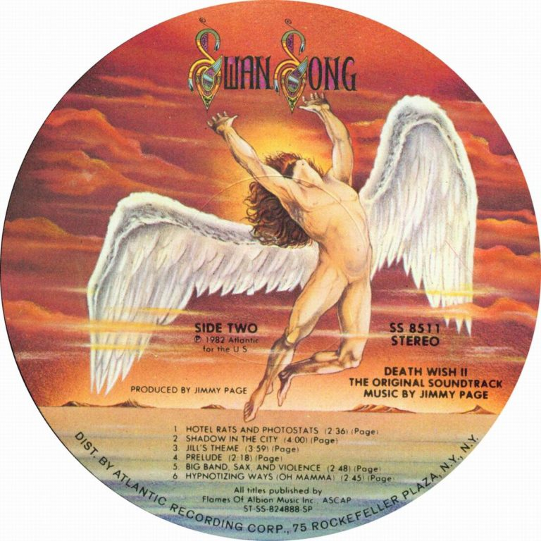 jimmy page swan song records label